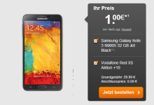 Galaxy Note 3 plus Vodafone Red XS unter 10 Euro