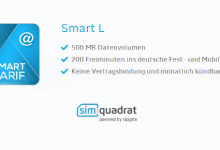 simquadrat Tarif-Option Smart L