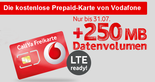 vodafone callya prepaid karte mit lte zugang extra. Black Bedroom Furniture Sets. Home Design Ideas