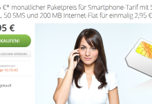 Groupon Deal - DeutschlandSIM Smatphone Tarif 2,95 Euro