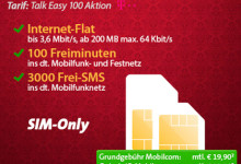 Talk Easy 100 Aktion Telekom Nur Karte