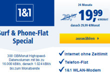 1&1: Surf & Phone-Flat Special