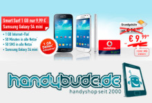 handybude Samsung Galaxy S4 mini + Smart Surf 9.99 Aktion
