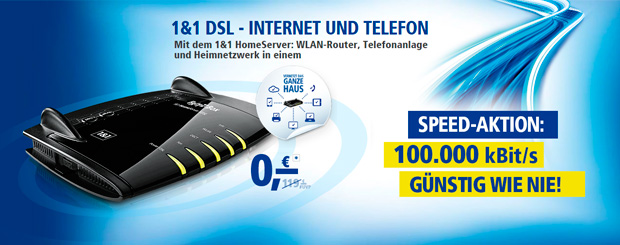 1&1 DSL Speed Aktion
