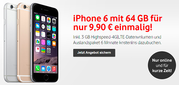 iPhone 6 inkl. Vodafone Red 3 GB