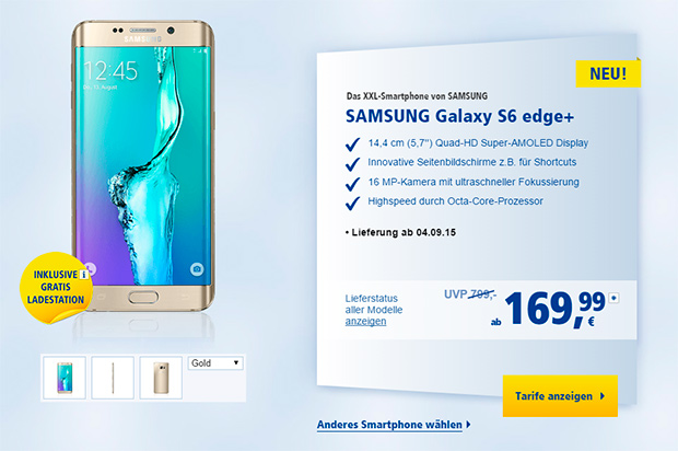 1und1 Samsung GALAXY Edge Plus