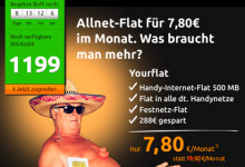 Crash-Tarife: Allnet-Flat - Yourflat