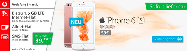 logitel Apple iPhone 6S mit Vodafone Smart L