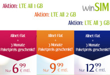 WinSIM LTE All Tarife Aktion