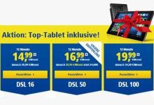 1&1 DSL mit Tablet Aktion