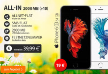 BASE All-in 2000 Mb mit iPhone 6s