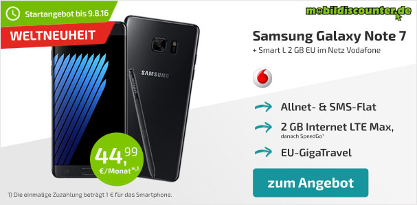 mobildiscounter - Galaxy Note 7 Angebot-420