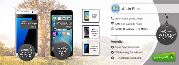 modeo - BASE Aktion mit Top Smartphone