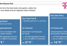 Telekom bietet zum ersten Mal Datentarife für Prepaid Karte an