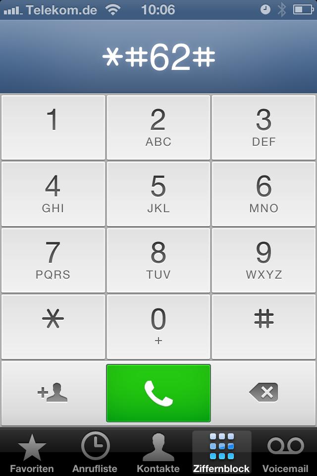 wie finde ich meine nummer im handy