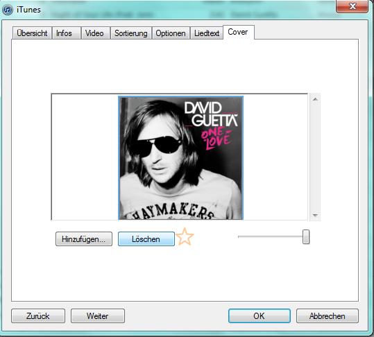 iTunes Cover löschen