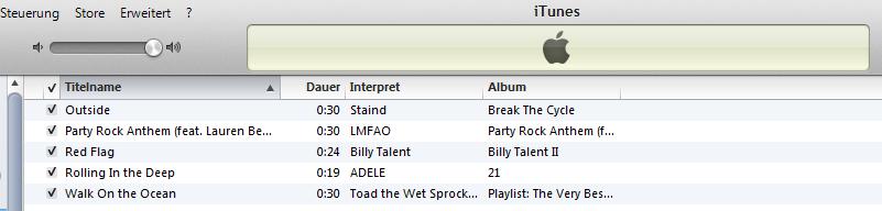 iTunes Klingeltöne