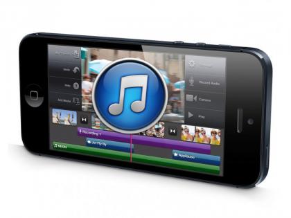 Iphone 5 mit Klingenton auf dem Bildschirm