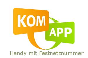 Komapp Handy mit Festnetznummer