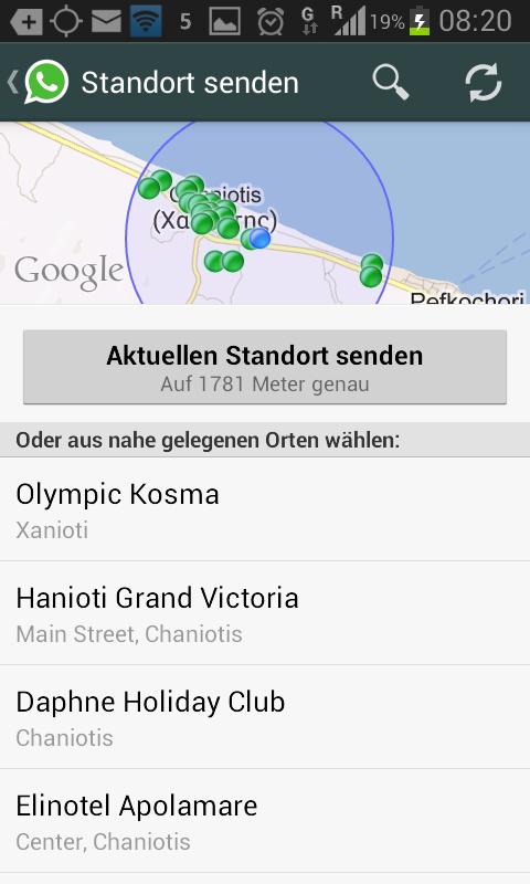 So wird Standort im Whatsapp gesendet