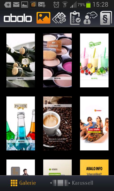 Abalo App - Werbung welche angezeigt wurde
