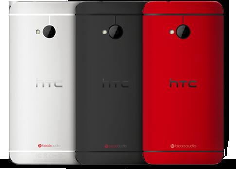 HTC One in drei Farben