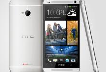 HTC One in Silber, 3 Ebenen