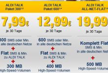 Preise für neue Aldi Talk Tarife