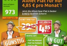 Crash Tarife Aktion: Allnet Flat nur 4,95 Euro pro Monat die ersten 4 Mon