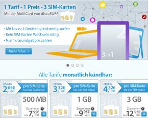 discoSurf: Jetzt mit MultiCard mit 3 Geräten ohne Aufpreis!