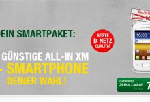günstige All-In XM mit Smparthone ab 7,95 Euro pro Monat bei smartmobil.de