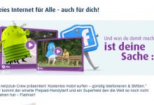 Netzclub mit kostenloser Internet Flatrate in Werbung