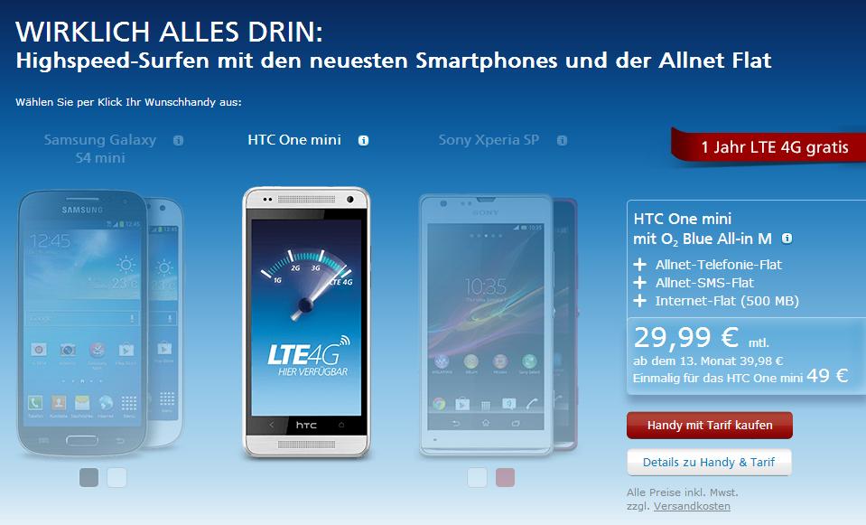 o2 Blue All-in M mit gratis LTE
