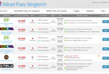 Vergleichsportal für Prepaid Allnet Flat Tarife