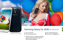 Samsung Galaxy S4 mit Allnet-Flat für nur 31 Euro pro Monat
