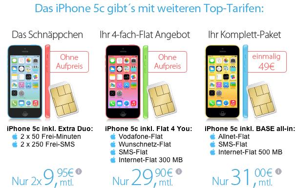 iPhone 5c bei Eteleon ab 49 Euro