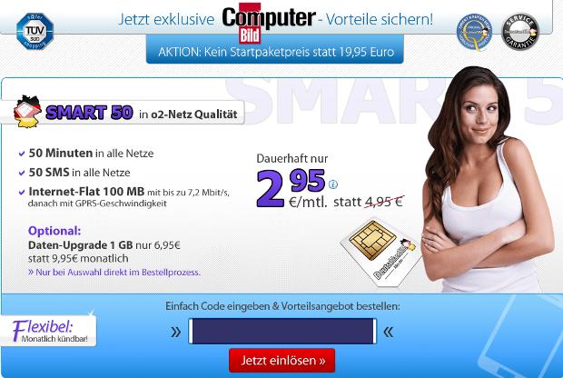 DeutschlandSIM und Computer Bild Aktion