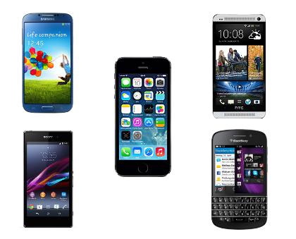 die besten 5 LTE-Smartphones im Herbst 2013