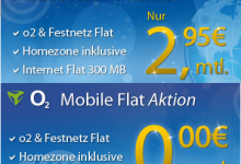 eteleon mit o2 Mobile Flat in Aktion
