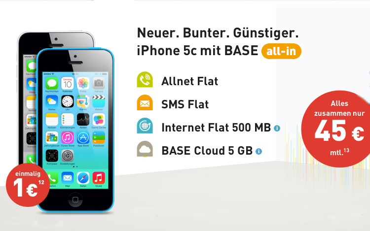iPhone 5c bei BASE