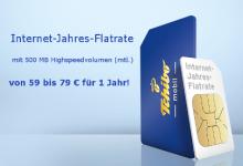 Tchibo mit Internet Flatrate für ganzes Jahr ab 59 Euro