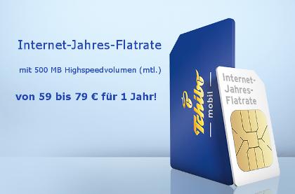 Jahtres Internet Flatrate bei Thibo