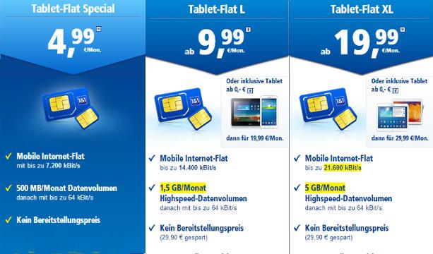 1-und-1 Datenflatrates ab 5 Euro monatlich zu bestellen