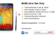 galaxy note 3 mit BASE All-Net-Flat bei handyliga.de für 30 Euro zu erwerben