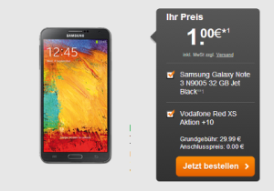 Galaxy Note 3 plus Vodafone Red XS unter 10 Euro