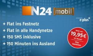 n24 mobil Tarif für 19 Euro 99 Cent