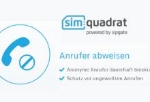 Anonyme Anrufe kostenlos blockieren bei simquadrat