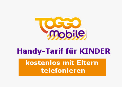 toggo mobile ein handy tarif f r kinder. Black Bedroom Furniture Sets. Home Design Ideas