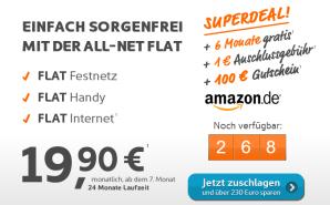 simyo Aktion: All-Net-Flat 6 Monate kostenlos plus 100 Euro Amazon-Gutschein
