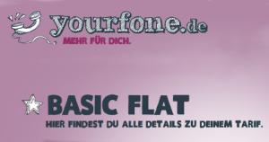 yourfone.de Basic Flat neuer Tarif